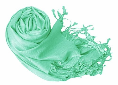 Luxurious Eco-friendly Pashmina Shawl (Aqua)