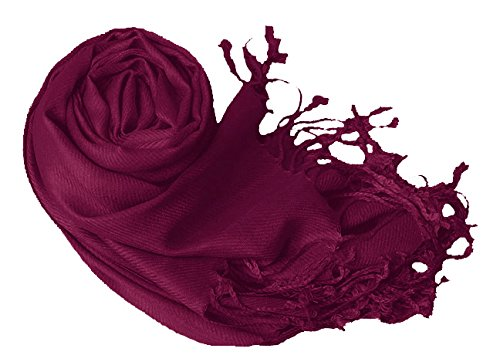 Luxurious Eco-friendly Pashmina Shawl (Eggplant)