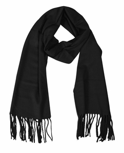 Soft and Warm  Cashmere Feel Unisex Scarves (Black)