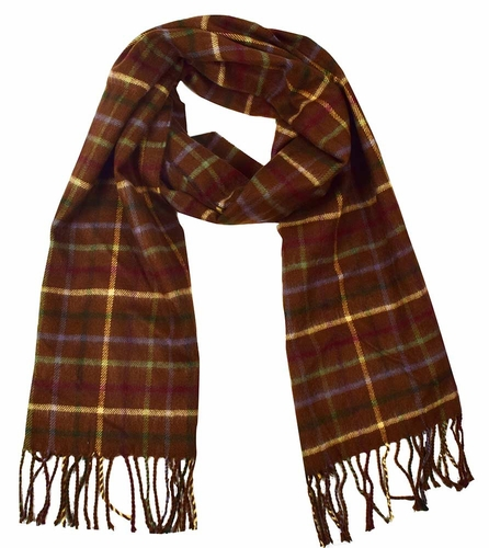 Soft and Warm  Cashmere Feel Unisex Scarves (Plaid Brown)