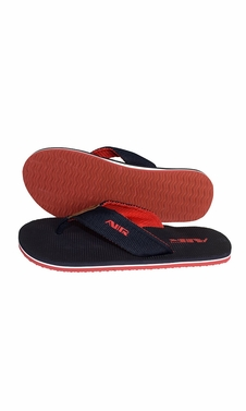 Mens Flip Flop Synthetic Suede Stappy Beach Flats Sandals Black Red