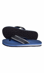 Mens Flip Flop Synthetic Suede Stappy Beach Flats Sandals Blue
