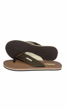 Mens Flip Flop Synthetic Suede Stappy Beach Flats Sandals Brown Beige