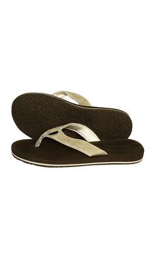 Mens Flip Flop Synthetic Suede Stappy Beach Flats Sandals Dark Brown Tan