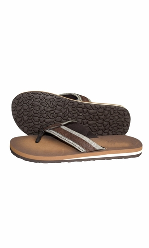 Mens Flip Flop Synthetic Suede Stappy Beach Flats Sandals Taupe