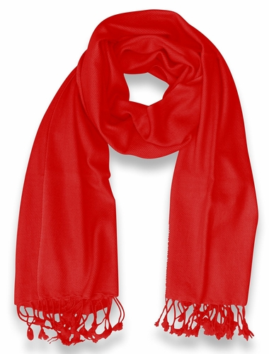 Mens Soft and Elegant 100% Cashmere Wrap (Red)