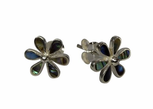 Mother of Pearl Colored Flower Earrings