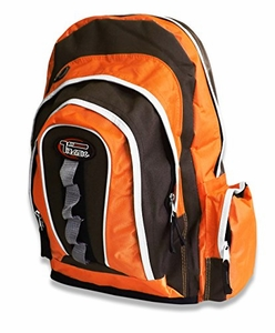 Multi-Purpose Back to School Extra Storage Technology Sport Backpack-Urban Gear (Brown/Orange)