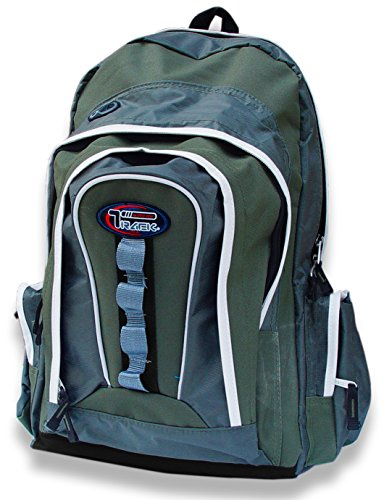 Multi-Purpose Back to School Extra Storage Technology Sport Backpack-Urban Gear (Moss/Olive)