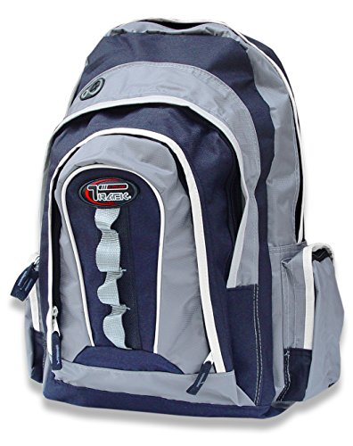 Multi-Purpose Back to School Extra Storage Technology Sport Backpack-Urban Gear (Navy/Silver)