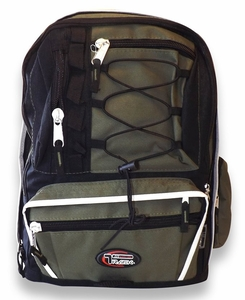 Multiple Compartment Pocket Storage School Hiking Smart Backpack (Green Camouflage)