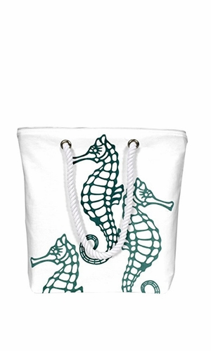 Nautical Starfish Bags Pure Cotton Canvas Bags Beach Bags Messenger bags Boat Bags Handbags Purses Tote Bags Green