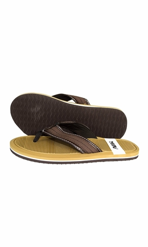 Nautical Summer Men's Beach Summer Flip-Flops Sandals Slippers Tan