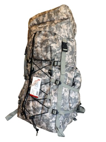 Outdoor Lovers Extra Large Durable School Travel Camping Backpack-Urban Gear (Digital Camouflage Bungee)