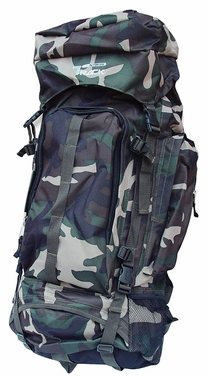 X Large Outdoor Hiking Camping Vacation Travel Luggage Backpack (Green Camouflage)