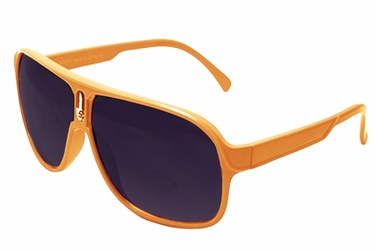 Over-sized Aviator Style Sunglasses with Thick Colorful Frame
