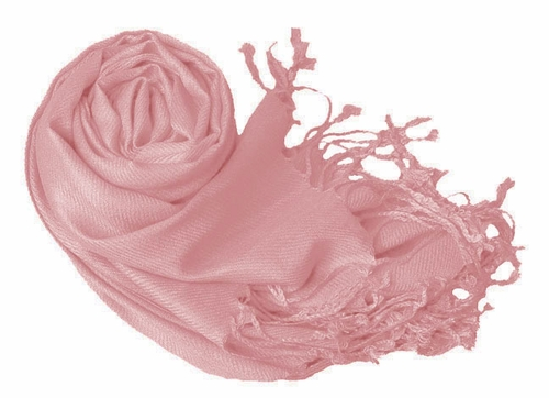 Luxurious Eco-friendly Solid Pashmina Shawl (Baby Pink)