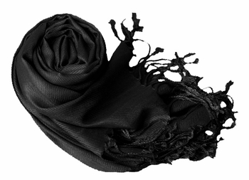Luxurious Eco-friendly Pashmina Shawl (Black)
