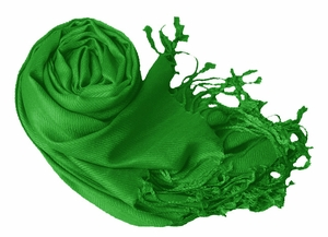 Luxurious Eco-friendly Pashmina Shawl (Green)
