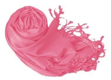 Luxurious Eco-friendly Solid Pashmina Shawl (Hot Pink)