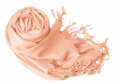 Luxurious Eco-friendly Solid Pashmina Shawl (Peach Puff)