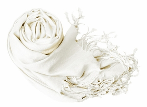Luxurious Eco-friendly Pashmina Shawl (White)