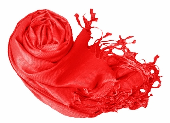 Luxurious Eco-friendly Solid Pashmina Shawl (Red)