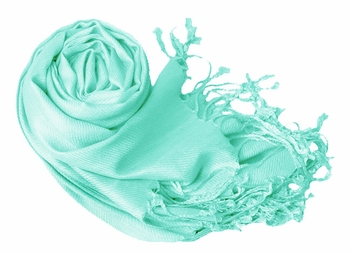 Luxurious Eco-friendly Pashmina Shawl (Robin`s Egg)