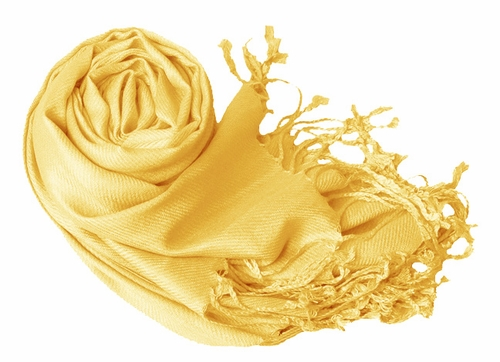 Luxurious Eco-friendly Pashmina Shawl (Yellow)