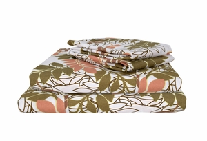 Peach Couture 400 Thread Count Printed Sheet Set