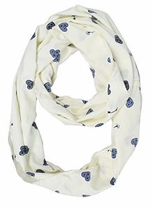 Exclusive Fun and Cute Variety of Prints Infinity Loop Scarves (Cream Key)