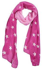 Exclusive Vibrant Patriotic Fading Star Print Light Scarf (Pink)