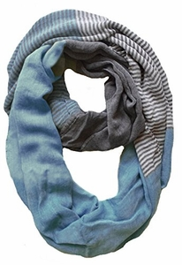 Sassy in Stripes Vintage Style Multi Color Lightweight Infinity Loop Scarf (Seaform)