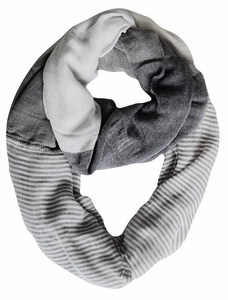 Sassy in Stripes Vintage Style Multi Color Lightweight Infinity Loop Scarf (White)