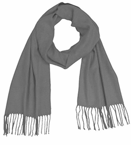 Soft and Warm Cashmere Feel Light Unisex Scarves (Grey)