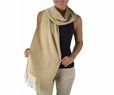Peach Couture Soft and Warm Cashmere Feel Light Unisex Scarves (Tan)