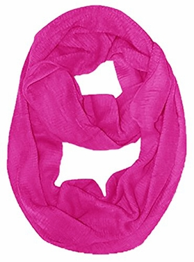 Peach Couture Soft and Warm Women's Solid Color Infinity Loop Neck Scarf / Wrap / Snood (Fuchsia)