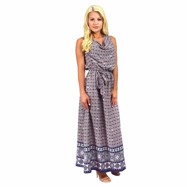 Moroccan Mosaic Maxi Dress