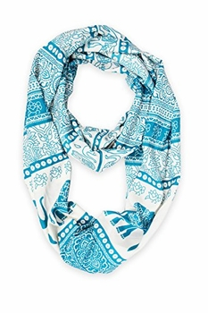 Trendy Lightweight Animal Print Artsy Elephant Wrap Scarf Shawl (Teal Tribal)
