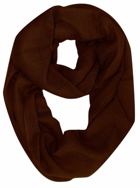 Warm Luxurious 100% Cashmere Infinity Loop Fall Winter Scarf (Chocolate Brown)