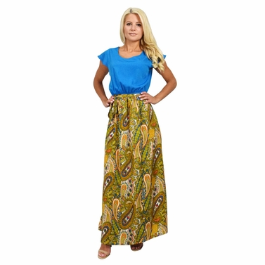 Passionate About Paisley Maxi Dress in Blue