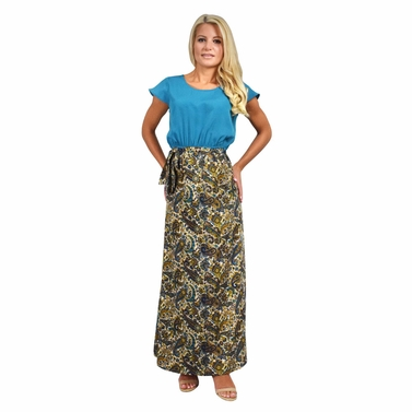 Paisley Paradise Maxi Dress in Teal