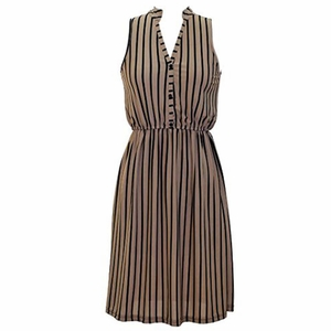 Earn Your Chic Stripes Dress in Brown