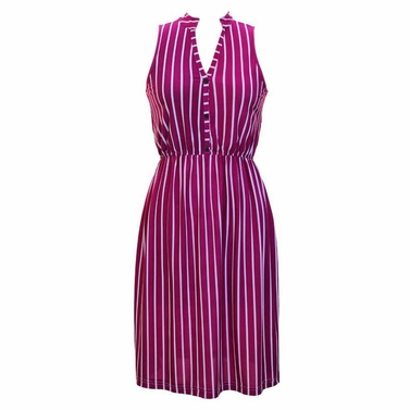 Earn Your Chic Stripes Dress in Fuchsia