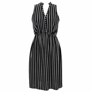 Earn Your Chic Stripes Dress in Black
