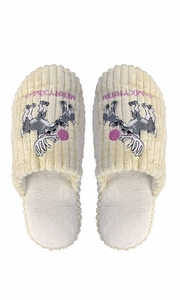 Peach Couture Womens Fleece Lined Relaxing Nordic Style House Slippers Beige Deer