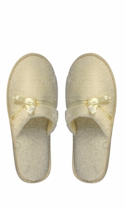 Peach Couture Womens Fleece Lined Relaxing Nordic Style House Slippers Beige Solid