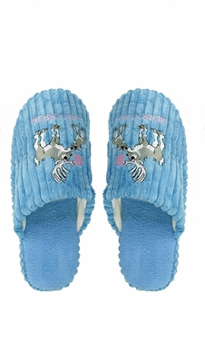 Peach Couture Womens Fleece Lined Relaxing Nordic Style House Slippers Blue Deer