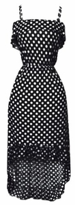 Yes You Can-Can Ruffle Dress in Black & White