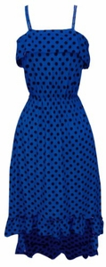 Yes You Can-Can Ruffle Dress in Blue & Black